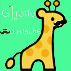 Cute Mustache Cartoons | Giraffe Moustache©