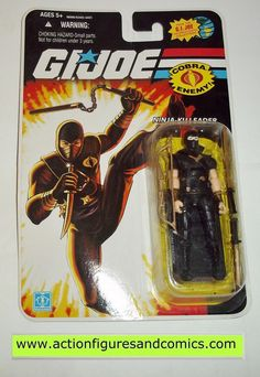 "GI Joe 2008 25th anniversaire STORM SHADOW ninja-Ku leader Noir 3.75/"" FIGURE"