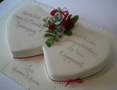 Small simple cake, w/ red trim for Ruby anniversary , plus cupcakes?