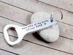 Customized gifts!! Unique gifts,Bottle opener. Dad Gifts,Keychain for Dad, Cute keychain for Dad,Hand stamped gift,