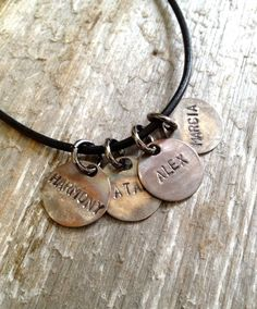 Guys Necklace Mens Leather Necklace Mens by SentimentalSilver4U