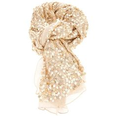 ROSE AND ROSE sequin scarf found on Polyvore