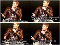 Jensen doesn't shop, he doesn't need to.