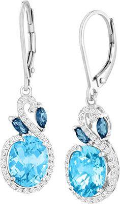 Balinese .925 Sterling Silver Turquoise Stud Earrings 13.5mm