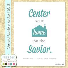 Free Printable: Richard G. Scott Center Home on the Savior General Conference Printable Freebie from BitsyCreations LDS General Conference #LDSCONF