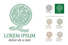 Tree logo by valeri_si on @creativemarket