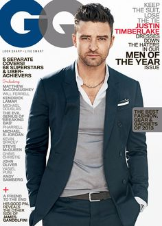 Justin Timberlake looks insanely handsome on GQ's Man of the Year cover!