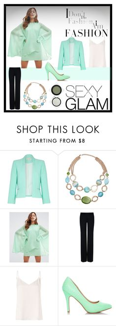 """Glam"" by krystalkm-7 ❤ liked on Polyvore featuring Damsel in a Dress, Mixit, ASOS, STELLA McCARTNEY, L'Agence and RMK"