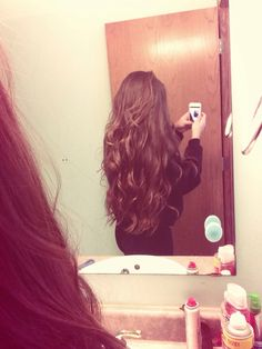 My hair. Long thick hair with big curls