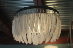 The Little Deer: feather chandelier