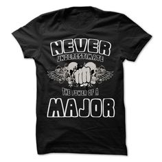 (Top Tshirt Discount) Never Underestimate The Power Of MAJOR 99 Cool Name Shirt [Tshirt Facebook] Hoodies, Funny Tee Shirts