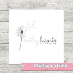 Premade logo and watermark design - dandelion 1 by chelseastreetdesigns on Etsy Graphic Design Branding, Logo Branding, Branding Ideas, Logo Ideas, Watermark Design, Logo Design Template, Basketball Logo Design, Hexagon Logo, Elegant Logo Design