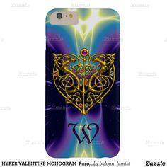 HYPER VALENTINE MONOGRAM  Purple Blue Barely There iPhone 6 Plus Case