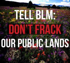 No fracking on public lands! | Oil Change International