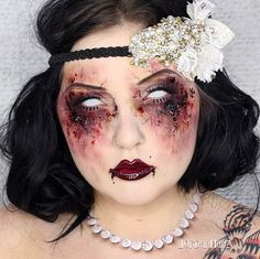 Pin for Later: Wicked Makeup Transformations to Inspire Your Halloween Costume Undead Flapper