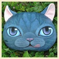 Description Details The perfect addition to your home, this adorable dark blue kitty cat face shaped cushion is super soft, comfortable and not to mention cute! More designs available in our store! Cat Pillow, Cushion Pillow, Dog Pillows, Funny Cats And Dogs, Cute Cats, Cute Cat Face, Cat Lovers, Dog Cat, Cushions