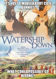 IT'S JUST A MOVIE ABOUT CUTE BUNNIES. what could possibly go wrong?