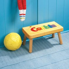 Wooden Name Stool   Great for kid's rooms!
