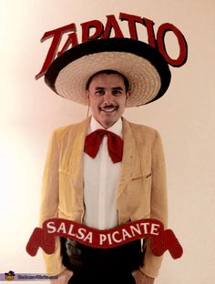 Jorge: I am wearing the costume. I got the idea from seeing a woman dressed as the chalula bottle last year. Tapatio is my favorite hot sauce!!. First I made the...