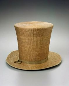 Man's hat        French, 1810–20         Toulouse, France  Dimensions      Overall: 22.9 x 33 x 35.6 cm (9 x 13 x 14 in.)  Medium or Technique      Woven skeined willow, with silk ribbon, silk plain weave lining  Classification      Costumes     Accession Number      44.184