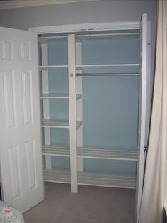 Inexpensive DIY closet shelving slatted shelves so clothes can breathe Bedroom Closet Design, Closet Designs, Diy Bedroom, Warm Bedroom, Trendy Bedroom, Bedroom Ideas, Diy Closet Shelves, Easy Shelves, Shoe Shelves