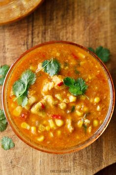A soup with chicken and corn - fantastic! I Love Food, Good Food, Kitchen Recipes, Cooking Recipes, No Cook Appetizers, Healthy Soup Recipes, Dinner Dishes, Food Photo, Indian Food Recipes