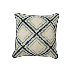Argyle 22x22 Pillow Multi Decorative Pillows ($25) ❤ liked on Polyvore featuring home, home decor, throw pillows, multi, plush throw pillows, ikat throw pillows, textured throw pillows, inspirational throw pillows and inspirational home decor