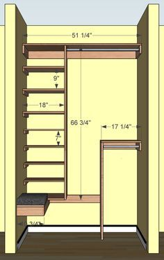 Narrow Deep Coat Closet Google Search With Stripe Material To Hide Behind Rather Than Door Woodworking Projects Diy