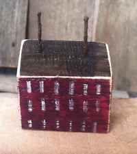 Primitive Saltbox House Rustic Folk Art By A. Gambrel Ooak Wine