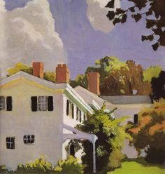 Fairfield Porter, House with Three Chimneys, 1972. Oil on canvas. A @Stylebeat Marisa Marcantonio favorite