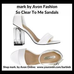 mark by Avon So Clear To Me Sandals https://www.avon.com/category/mark/fashion?rep=barbieb&utm_content=buffer1eed4&utm_medium=social&utm_source=pinterest.com&utm_campaign=buffer  - new Fashion Campaign 10 - shop mark by Avon Fashion http://barbieb.avonrepresentative.com?utm_content=bufferd3a5b&utm_medium=social&utm_source=pinterest.com&utm_campaign=buffer