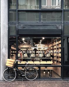 Cheese and bicycle @goldenagecheesestore! +   Have a nice day!