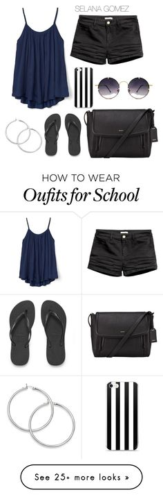 """School "" by sequiagomez on Polyvore featuring Gap, Spitfire, Havaianas and DKNY"
