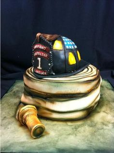 wedding cake images pictures firefighter helmet retirement cake shared by 22953