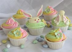 Sweet Easter Bunny Cupcakes