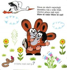 Kouzelná slovíčka Children's Picture Books, Mole, Fairy Tales, Homeschool, Clip Art, Classroom, Logos, Kids, Pictures