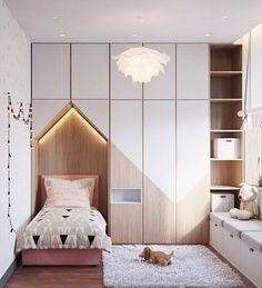 Lovely kids' room with bed tucked into the built-ins. – Mimi @ hello shiso Lovely kids' room with bed tucked into the built-ins. Lovely kids' room with bed tucked into the built-ins.