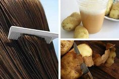 Potato skin water can be a great remedy for strengthening and nourishing hair. We don't recommend this for blonde haired individuals. Grow Natural Hair Faster, How To Grow Your Hair Faster, Home Remedies For Hair, Hair Remedies, Potato Juice, Bald Hair, Hair Growth Treatment, Strong Hair, Hair Repair