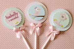Pássaros - Isabelly http://blog.tuty.com.br/ Papelaria de festa