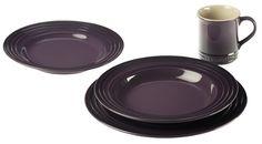 16 Piece Le Creuset Purple Dinnerware Set