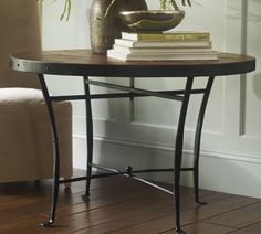 Shop malone bistro side table from Pottery Barn. Our furniture, home decor and accessories collections feature malone bistro side table in quality materials and classic styles. Furniture Upholstery, Home Furniture, Mahogany Stain, Beautiful Home Designs, Iron Table, Dinning Table, Dining Room, Formal Living Rooms, Wood And Metal