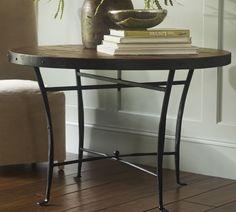 mesa de comedor en hierro y madera