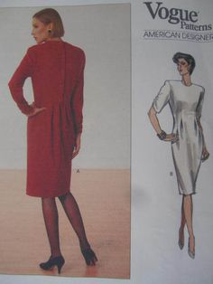 See Sally Sew-Patterns For Less - Close Fitting Tapered Dress Geoffrey Beene American Designer Vogue 2353 Pattern Sz. 14 , $14.00 (http://stores.seesallysew.com/close-fitting-tapered-dress-geoffrey-beene-american-designer-vogue-2353-pattern-sz-14/)