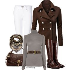 No. 345 - Brown riding boots, created by hbhamburg on Polyvore