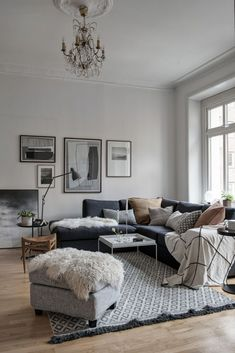 A side with and about interior design, interior design, interior decoration - Wohnzimmer styles - Apartment Decor Living Room Grey, Home And Living, Living Room Decor, Small Living, Modern Living, Scandinavian Interior Design, Scandinavian Living, Modern Interior, Scandinavian Christmas