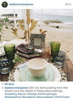 Beachside Tablescape. See more @kalebnormanjames