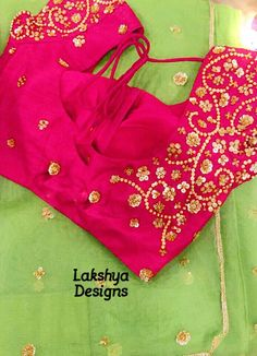 statementblouse saree sequencework Lakshyadesigns 12 September 2016