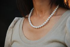 True White akoya pearl strand. Our pearls are selected from the top 1% of the annual pearl harvest. What does that mean? It means we use only the best pearls. http://masatopearls.com/collections/strands/products/true-white-princess-strand-7-7-5mm