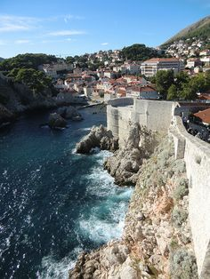 Old city wall of Dubrovnic, Croatia