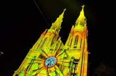 GLOW Eindhoven: de betoverde St. Catharinakerk #GLOW #GlowEindhoven #Glow2014 #church #videomapping #lightshow